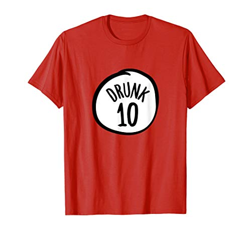Drunk 10 | Funny Group Halloween Costume Unisex T-shirt]()