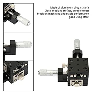 Precision XY Linear Stage,Micrometer Manual Slide Table Trimming Platform Cross Roller XY Linear Position Stage 1.6 1…