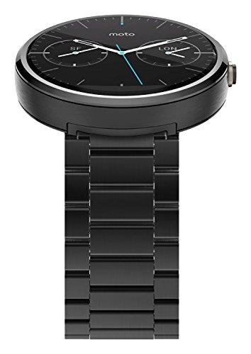 Motorola Moto 360 Smartwatch w/ 23mm Metal Band - Black (Certified Refurbished) by Motorola (Image #2)