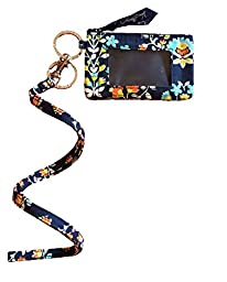 Vera Bradley Zip Id Case and Lanyard in Chandelier Floral
