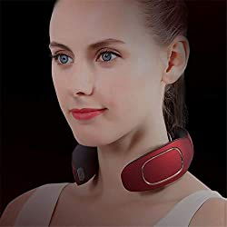 WODT Smart Neck Massager, Electric Pulse Neck Massager Far Infrared Heating Pain Relief Health Care Relaxation Tool