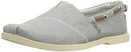 BOBS from Skechers Women's Chill Luxe-Fancy Me Flat, Gray, 10 M US 33739