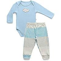 Conjunto Body Longo + Calça Conforto, Hug, Azul/Azul, M