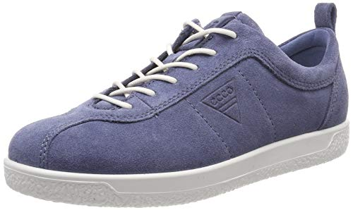 ECCO Women's Soft 1 Ladies Low-Top Sneakers, (Retro Blue 5471), 7.5 UK
