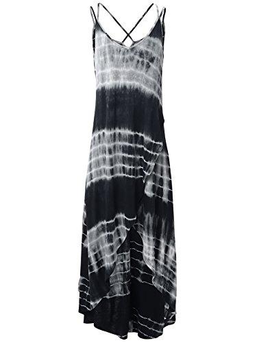 long black and leopard print dress - 8