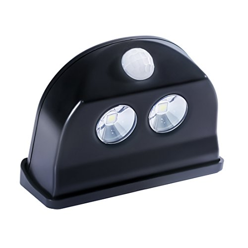 Motion Sensor Light Outdoor Battery Powered - Waterproof - Lasting Power - LED Step Light, Stair Light, Night Light - KMSdeco Cordless Door Alarm Light - Black Color by KMSdeco