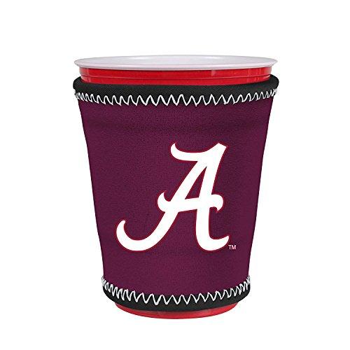 Kolder NCAA Logo Coolie Cup Holder Sleeve Fitting Plastic Cups, Pint Glasses, Coffee Cups, Ice Cream, Etc. - Neoprene and Bottomless (Alabama Crimson Tide)