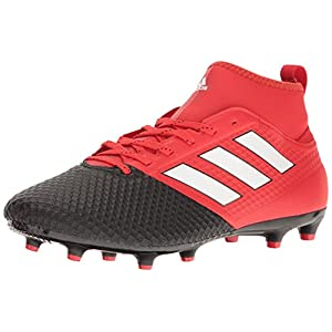 adidas Men's Ace 17.3 Primemesh Firm Ground Cleats Soccer Shoe, Red/White/Black, (9.5 M US)