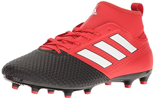 adidas Men's Ace 17.3 Primemesh Firm Ground Cleats Soccer Shoe, Red/White/Black, (12 M US) (Mens Football Cleat)
