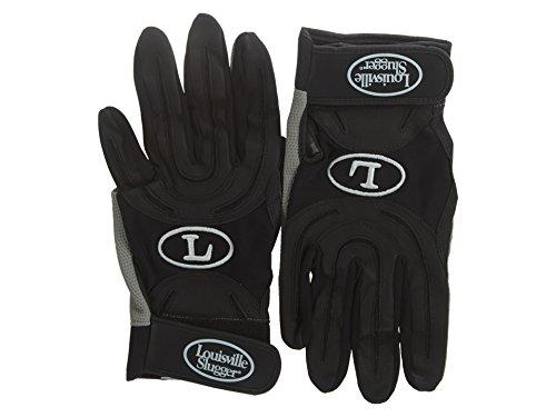 Louisville Slugger Genesis 1884 Series Batting Gloves (Black, Medium)