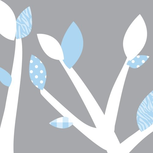Fabric Tree Decals, Tree Stickers in White and Blue, Baby Blue by Nursery Decals and More (Image #1)
