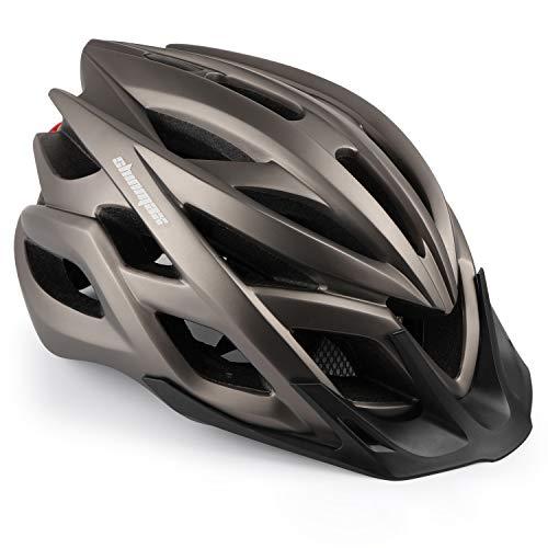 Shinmax fietshelm, fietshelm met LED-waarschuwingslampje bergweg verlichte helm berghelm mannen & vrouwen rijden voor…