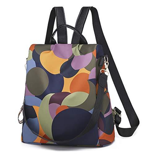 Leviro Women Backpack Purse Waterproof Nylon Antitheft Backpacks School Shoulder Bag Camo Handbag