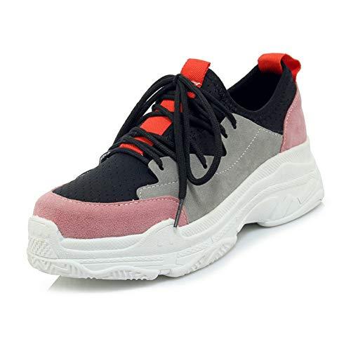 De Mujer Zapatillas Size Plus Moda Vulcanize Calzado 2018 Lace Ocio Shoes Fashion Pink Hoesczs Zapatos 46 Up 29 RqOw8gp