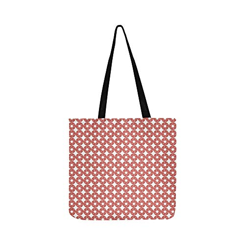 Scrapbooking Sheet Page Map Red Canvas Tote Handbag Shoulder Bag Crossbody Bags Purses For Men And Women Shopping Tote ()