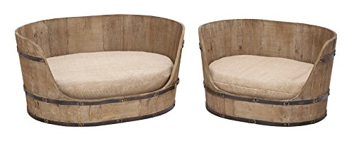 - Deco 79 Classic Style Pet Bed Set with Handmade Wood