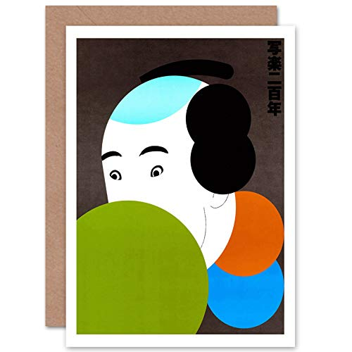 (Wee Blue Coo New Illustration Japanese Tanaka SHARAKU IKKO Tanaka Greetings Card CP1131)