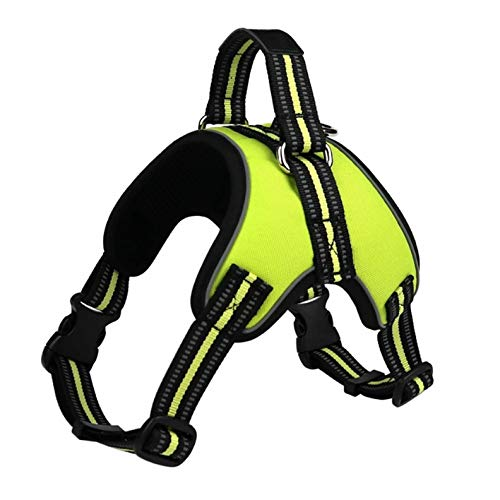 MASCRETTA Arnés Reflectivo 3M para Perro. Disponible en Pequeño, Mediano y Grande. En Color Negro y Verde. Reflective Dog...