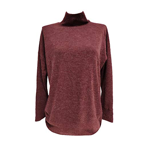 Seamount Casual High Collar Long Sleeves Cotton Spandex Top Blouse with Head Cover ()