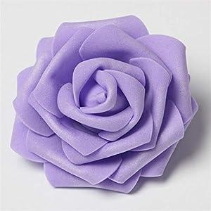 BeesClover 30Pcs/Lot 8Cm Big Pe Foam Roses Artificial Flower Heads for Wedding Event Decoration DIY Wreaths Home Garden Decorative Supplies 112