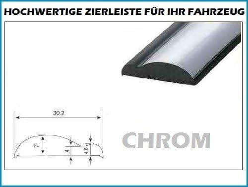 30mm X 5 Meter Zierleiste Chrom Schwarz Selbstklebend Universal Auto Tuning Wohnungsdekoraton Eckleiste Wanddekor Autotuning Auto