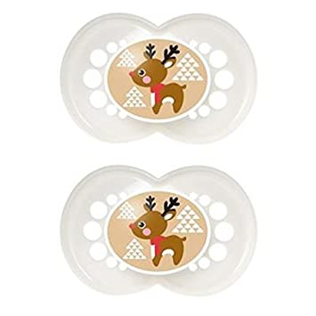 Amazon.com: MAM Christmas/Vacaciones pacifiers- renos: Baby