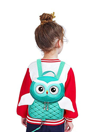 Toddler Anti-Lost Backpack, Yuepin Cute Owl Baby Backpack with Safety Leash for Age 1-5 Years Old Kids (Green)