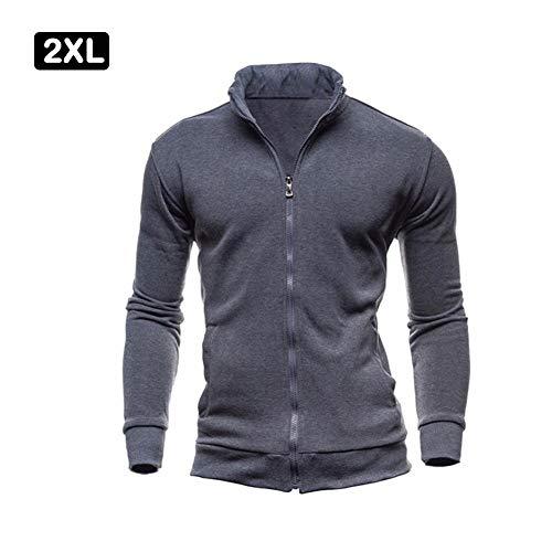Tops New Pull Les Hommes Harmoney Collar Longues Casual Foncé Manches Pour Gris 2019 Zipper Cardigan qUWPw578tP