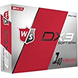 Wilson Staff Herren Golfbälle, 12er Pack, Fortgeschrittene Spieler, 40er Kompression, Dx3 Soft Spin, Weiß, WGWP40700