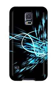 New Arrival Cover Case With Nice Design For Galaxy S5- Digital Blue Boom