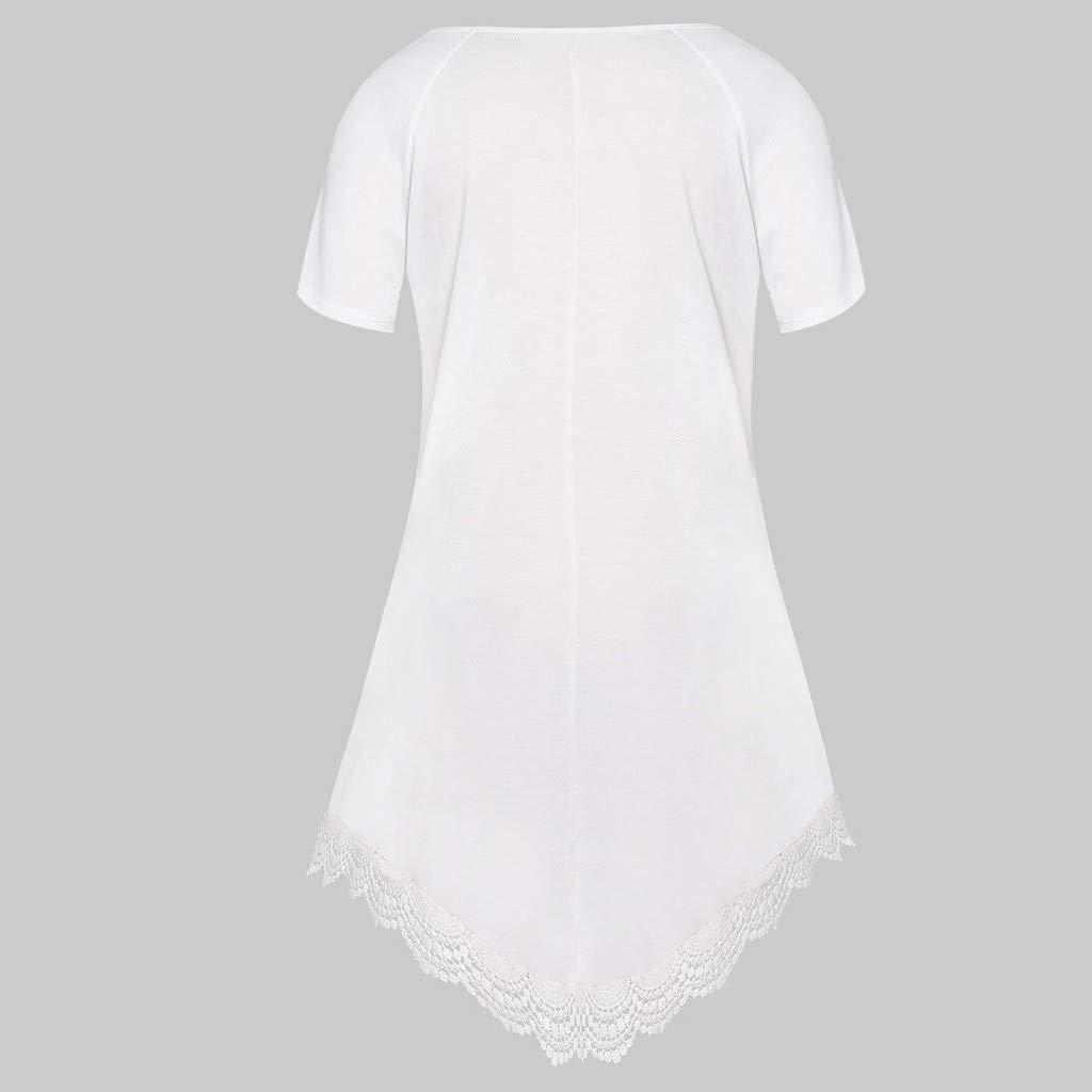 LRWEY Camisetas para Mujer, Tallas Grandes, Manga Corta ...