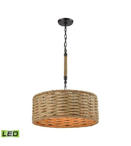 Chandeliers 3 Light LED with Oil Rubbed Bronze Finish 19 inch 28.5 Watts - World of Lamp