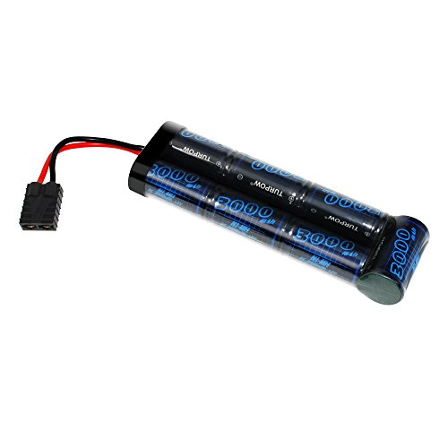 TURPOW 8.4V 3000mAh NiMH Flat Battery Pack with Universal Plug (EC3/Deans/Traxxas/Tamiya) Assembled with 16G Wire