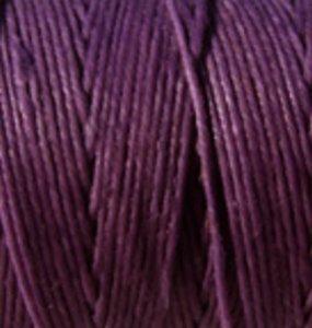 Waxed Irish Linen-Plum. Sold per 50 gram spool - approx. 90 - 100 yards of 4-ply