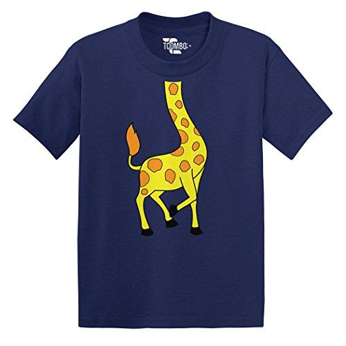 Giraffe Goofy - Giraffe Body Toddler/Infant T-Shirt (Navy Blue, 4T)