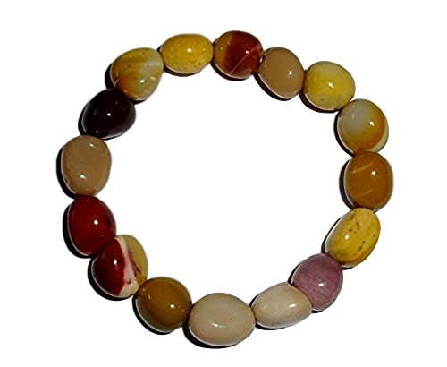 - 1pc Mookaite Jasper Premium Quality Tumbled Crystal Healing Gemstone 6-8 Mm Nugget Beaded Stretch Bracelet