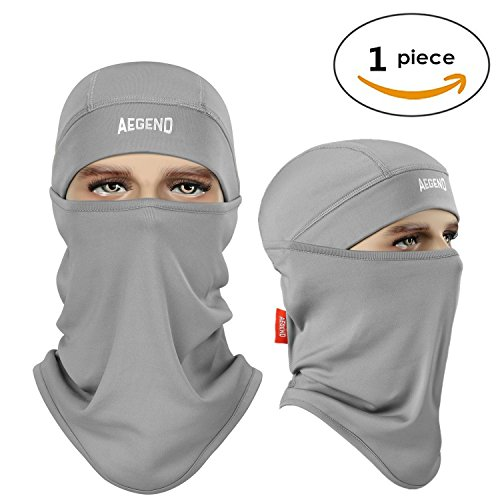 Aegend Balaclava Ski Face Mask Polyester Fleece for Women Men Youth Tactical Balaclava Hood for Motorcycle Snowboard Cycling Outdoors in Winter Neck Warmer or Lightweight Windproof Hat-Grey, 1 Piece