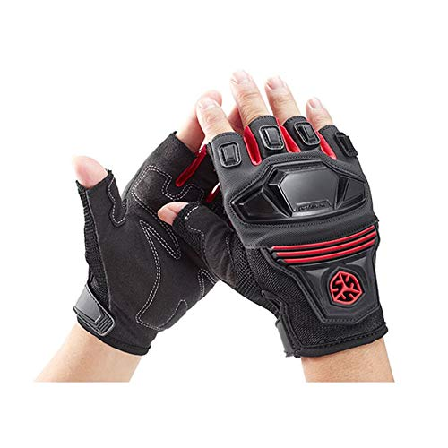 SCOYCO Breathable Shockproof Wear Resistant Half Finger Motorcycle Gloves