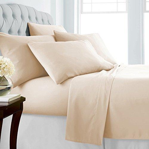 Mayfair Linen Hotel Collection 100% Egyptian Cotton 800Tc Sheet Set Full Ivory