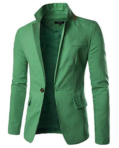Giacca Slim Casual Capispalla Business Fit Huixin Skinny Uomo Moda Suit Cappotto Grün Blazer Da Elegante YxSnBq48z