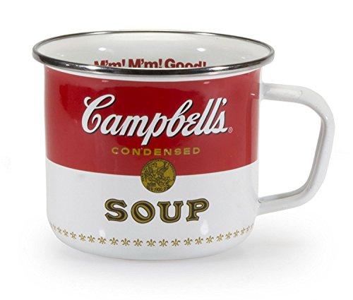 (Soup Mugs Soup Bowls Cute Coffee Mugs Large 24 oz. Unique Cool Campbells Logo Set of Two)