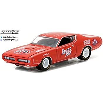 GREENLIGHT 1:64 RUNNING ON EMPTY 1971 DODGE CHARGER STP DIE-CAST RED 41010-E