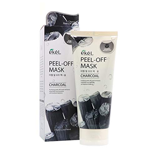 Ekel Peel Off Mask Charcoal - Purifying Mask Penetrates to Eliminate Blackheads-Removes Impurities and Restores Oil-Moisture Balance Leaving Skin Clean, Clarified, Smoother and Suppler, 6.09 oz