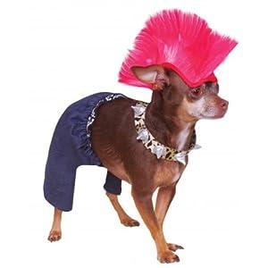 Rubies Costume Company Punk Rocker Pet Costume and Wig, Large