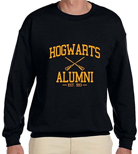 Gildan Hogwarts Alumni Sweatshirt (XLarge, Black)