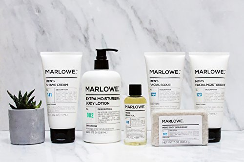 MARLOWE. No. 123 Men's Facial Moisturizer 6 oz   Lightweight Daily Face Lotion for Men   Best for Dry or Oily Skin   Made with Natural Ingredients & Anti-Aging Extracts by Marlowe (Image #8)