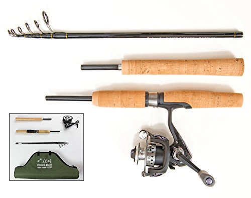 Nano Carbon Telescopic Fishing Rod, Reel and Case. Stiff action, light...