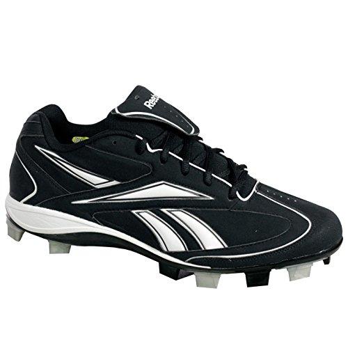 Reebok J00770 VERO III LOW MSL Mens Baseball Shoes Black/White 12 M Z5YrUdara