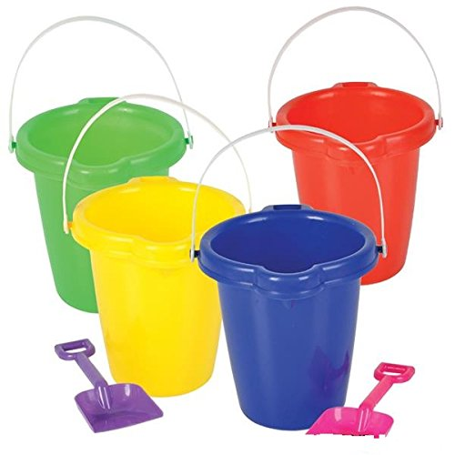 Pail Sand (Kids Beach Play Toy Sets, Sand Pails Buckets With Shovels Pool Party Toys 7.5