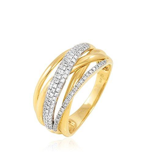 HISTOIRE D'OR - Bague Or Jaune Pauline Diamants - Femme - Or jaune 375/1000